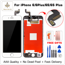 AAA Quality 100% 굿 Working LCD Touch Screen (gorilla Glass) 디지타이저 디스플레이 Assembly 대 한 iPhone 6 초 Plus Free Shipping + gifts(China)