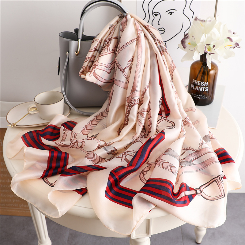 2019 luxury brand women silk scarf designer shawls and wraps lady pashmina foulard beach stoles hijabs scarf neck headband