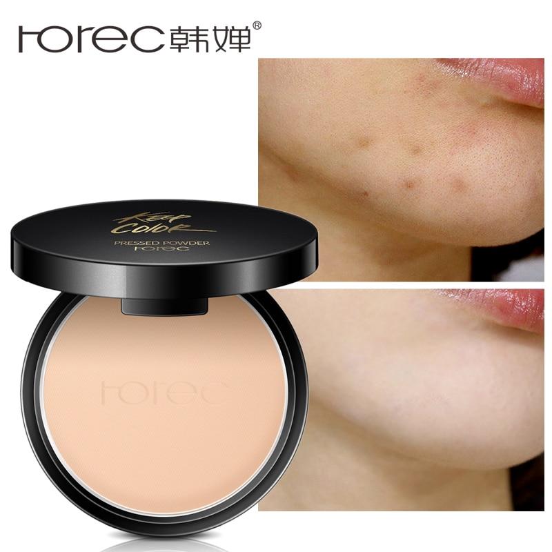 ROREC Mineral Pressed Face Powder Concealer Base Makeup Performance Wear Powder Foundation Compact Powder Makeup Illuminator