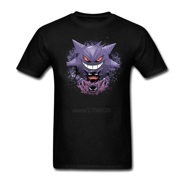 3d94952d8 Print Teenage Gengar evolution Men's Tees Shirt Short Sleeve Crewneck  Design Adult 100% Cotton Mens Plus Size T Shirts