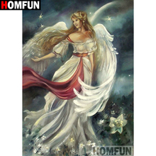 HOMFUN Full SquareRound Drill 5D DIY Diamond Painting Oil painting beauty Embroidery Cross Stitch 3D Home Decor Gift A16296