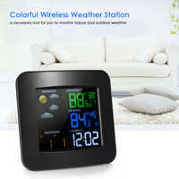 Multifunctional Wifi Color Weather Station Temperature Humidity Meter Barometer Digital Time Calendar Display Snooze Function