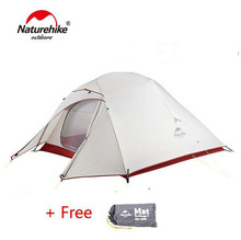 Naturehike Updated Cloud Up Series Ultralight Hiking Tent Waterproof 20D/210T Fabric With Free Mat  For 1 2 3 Person