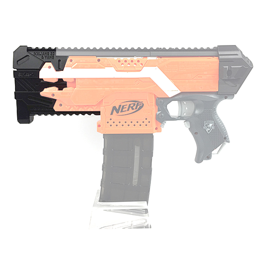 Maliang 3D Printing Modified Science Fiction Style S1 Front Tube for Nerf Stryfe maliang appearance modification 3d printing front tube a 3 0 decoration part for nerf zombie strike doublestrike blaster