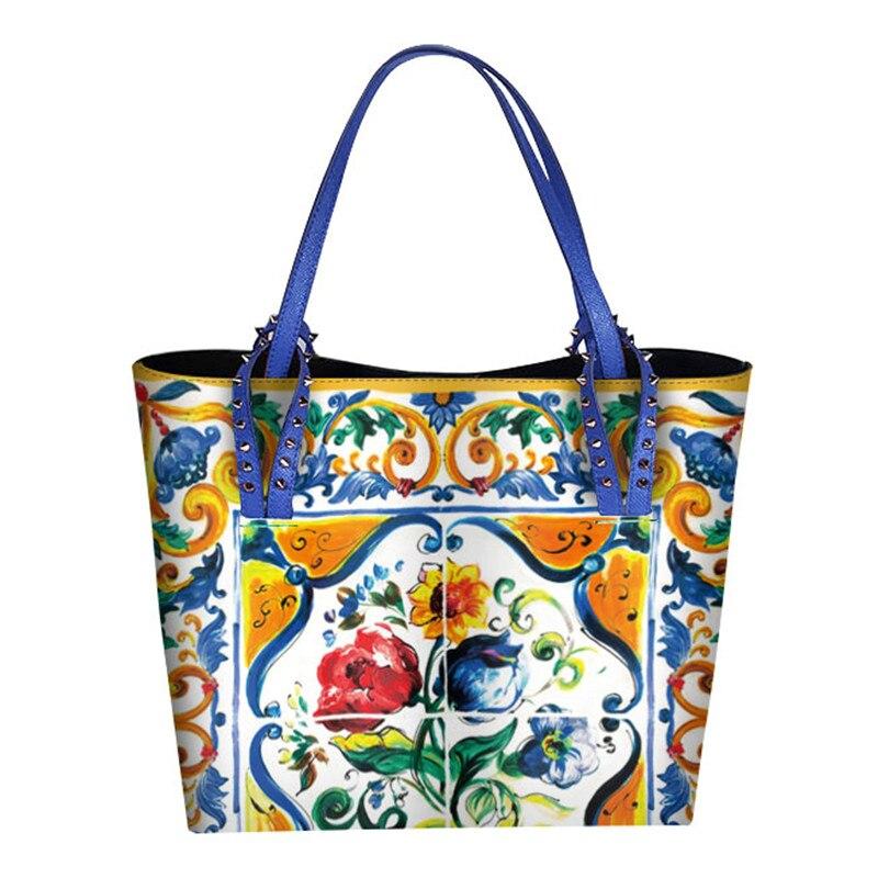 1 Siciliennes Designer Prestige Femmes Cuir Imprimé Sicile Célèbre À Style Grands tout Italie Sac Sacs Main 4 3 Marque Fourre Shopper Bandoulière 5 Ethnique 2 En z8rF4q6zwx