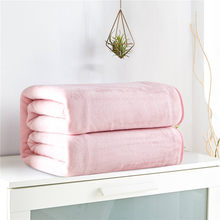 Home Textile Pink Cover Bed Simple Boy Girls Bedding plush blankets Microfiber Flannel luxury blankets Mechanical Wash Blankets(China)