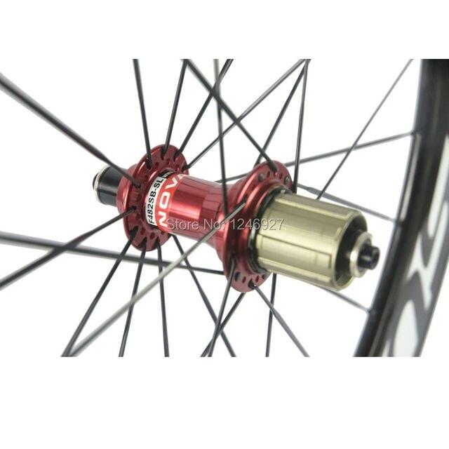 Roues avant et arrière en carbone pour vélo de route roues en carbone 88mm avec roue de vélo de course Super légère Novatec 291