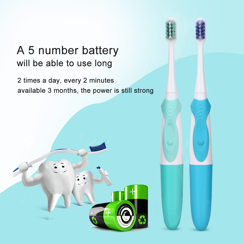 AZDENT 2pcs Different Type Heads Electric Toothbrush Dual Clean Whitening Battery Power Electric Teeth Tooth Brush for Adults azdent new az 2 pro electric toothbrush for adults deep clean power battery electric tooth brush 4 replaceable tooth brush head