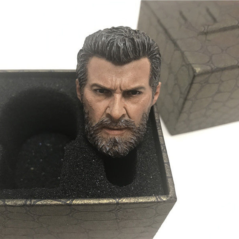 1/6 Male Head Sculpt Old Logan Head Carving  For 12'' Muscular Body Figure Collections 1 6 male head sculpt old logan head carving for 12 muscular body figure collections
