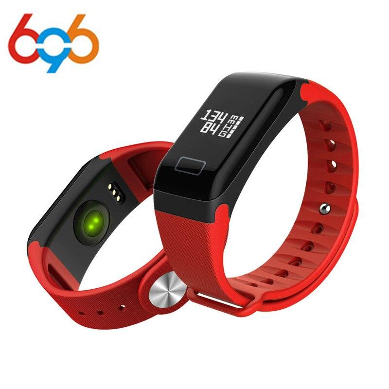 696 Smart wristband Pedometer Bracelet F1 wrist band Heart Rate Monitor Sports Smart watches Blood Pressure Pulse watch