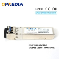 10GBASE LR SFP+ transceiver,10G 1310nm 10KM SFP optical module with dual LC connector and DDM,compatible with Juniper