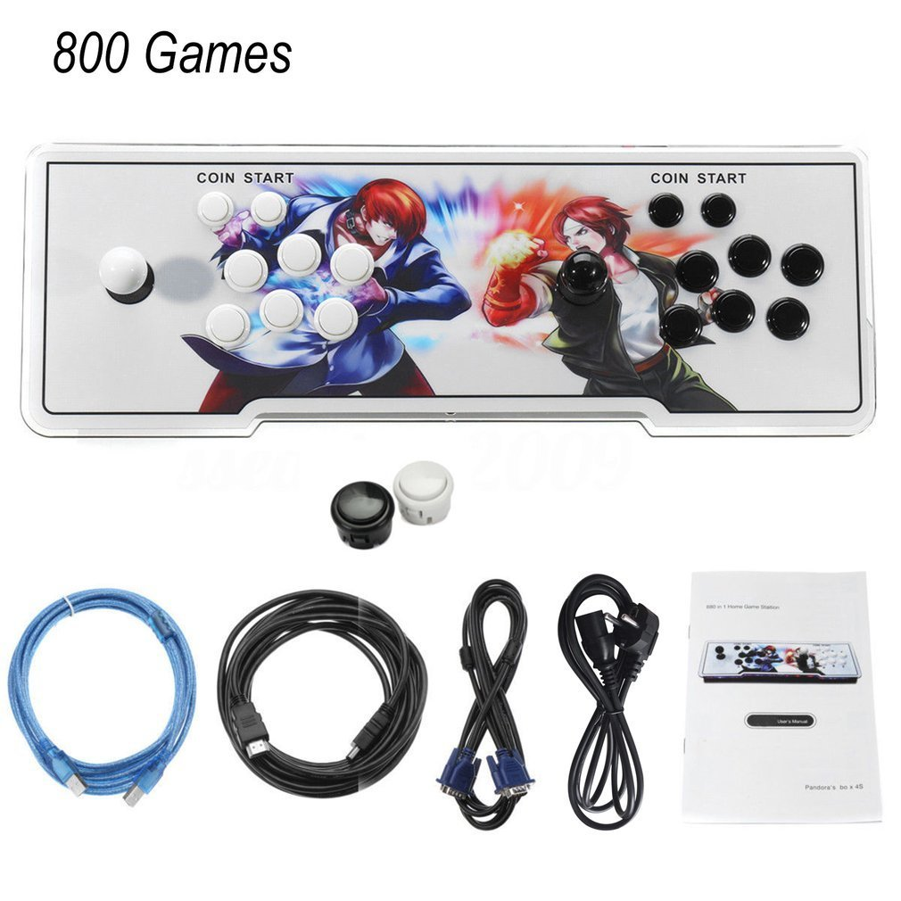 800 In 1 TV For Jamma Arcade Game Console Kit Set Double Joystick HDMI VGA Interface Home Children Playing Console EU Plug800 In 1 TV For Jamma Arcade Game Console Kit Set Double Joystick HDMI VGA Interface Home Children Playing Console EU Plug