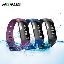 HORUG Inteligente Pulseira Pulseira De Fitness Vida À Prova D Água Rastreador De Fitness Monitor de Freqüência Cardíaca Pulseira Smartband Atividade