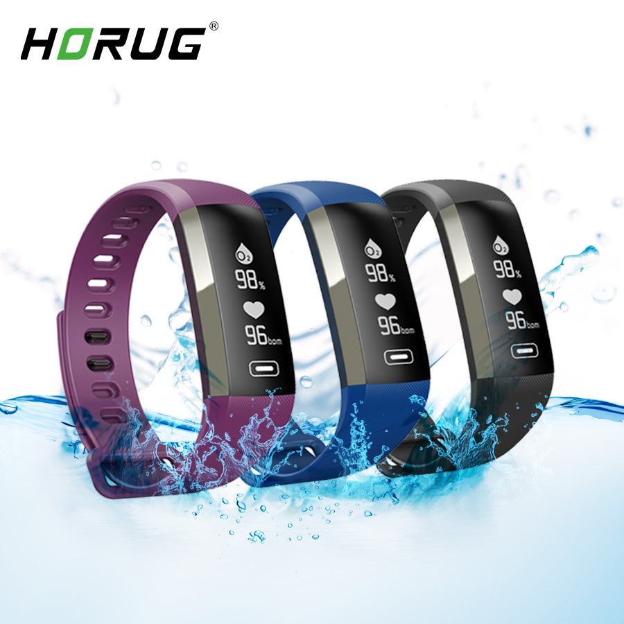 HORUG Smart Wristband Fitness Bracelet Life Waterproof Fitness Tracker Activity Bracelet Heart Rate Monitor Smartband-in Smart Wristbands from Consumer Electronics