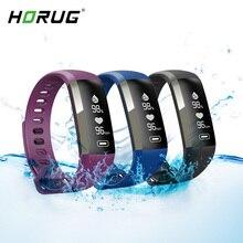 HORUG สายรัดข้อมือสมาร์ทฟิตเนสสร้อยข้อมือกันน้ำฟิตเนส Tracker สร้อยข้อมือ Heart Rate Monitor Smartband