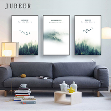 Scandinavian Style Canvas Painting Landscape Forest Poster And Prints Paintings Decoration Salon Picture for Living Room