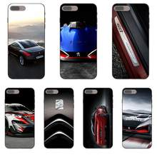 Bien Peugeot Sport coche TPU Capa cubierta para Apple iPhone 4 4S 5 5S SE 6 6 S 7 8 plus X XS X Max XR(China)