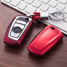 Miękka TPU obudowa kluczyka do samochodu pokrowiec na bmw 520 525 F10 F30 F18 118i 320i 1 3 5 7 serii X3 X4 M3 M5 klucz osłona zabezpieczająca Car Styling tanie tanio SENFEEL Red Black Blue Pink Sliver Gold For BMW 1 2 3 4 5 6 7 X3 X4 M5 M6 GT3 GT5