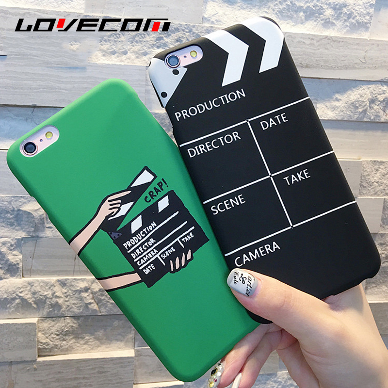 LOVECOM For iphone 5 5S SE 6 6S Plus 7 7 Plus Phone Case Scrub Movie Pallets Pattern PC Hard Phone Back Cover YC1944 ...