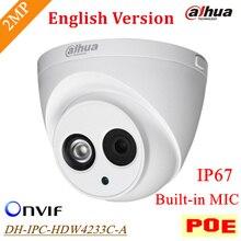 Оригинал Dahua POE 2-мегапиксельная Ip-камера IPC-HDW4233C-A Открытый Водонепроницаемый IP67 Встроенный Микрофон Onvif ИК Расстояние 50 м DH-IPC-HDW4233C-A