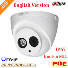 D'origine Dahua POE 2mp IP Caméra IPC-HDW4233C-A En Plein Air Étanche IP67 Micro Intégré Onvif IR Distance 50 m DH-IPC-HDW4233C-A