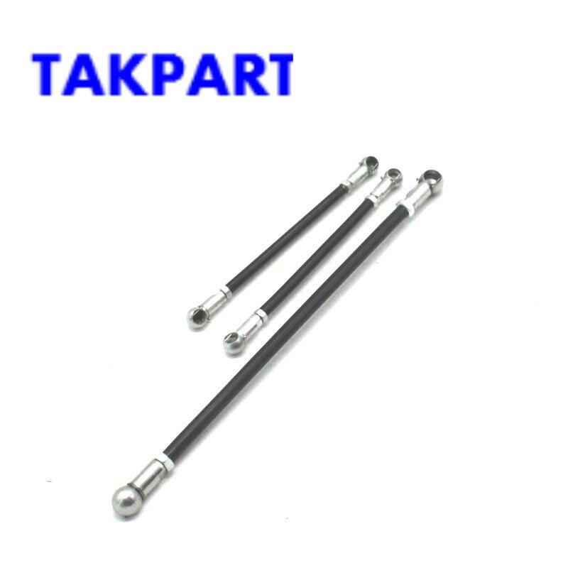TAKPART Gear Linkage Push Rods 3pcs Kit for Peugeot 106 Citroen Saxo 91 04