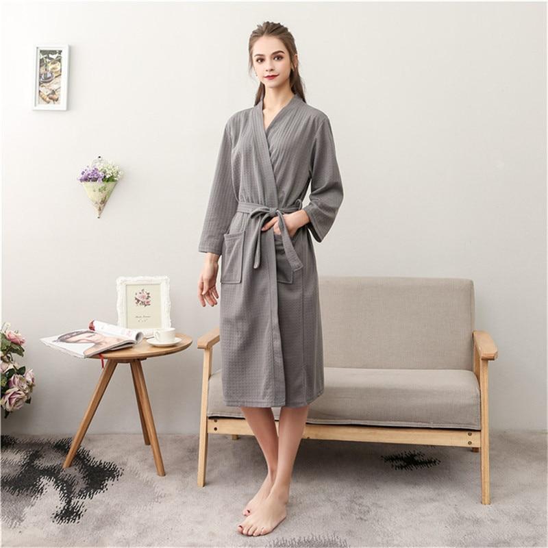 Sommer Liebhaber Saugen Wasser Kimono Bademantel Sexy Waffel Bademantel frauen bademantel Herren Dressing Kleider Männlichen Salon Roben
