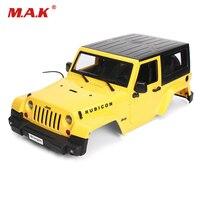 DIY 1:10 Sert Plastik Sarı Vücut Kabuk Parçaları Tırmanma Araba Modifiye Araba Kabuk Fit 1:10 RC Modeli Paletli Araç Modeli