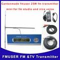 Fmuser Cantonmade КОМПЛЕКТ FU-25A 25 Вт FM аудио Передатчик и DP100 диполь 1/2 волны антенны