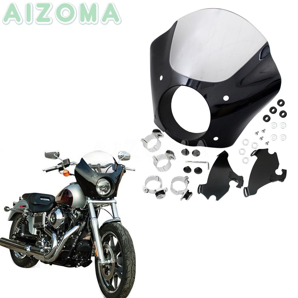 Gauntlet Headlight Fairing w Clear Windshield For Harley Sportster Iron 883 1200 Sport Low Custom Seventy