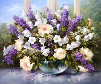 Handpainted Modern Flower Painting Still Life Art Painting for Wall Decoration Oil on Canvas No Framed No Prints