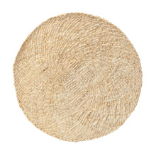 38cm Natural Corn Leather Meal Pad Hand Woven Padded Insulation Hotel Restaurant Circular Decorative