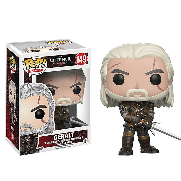 Funko pop the wicher 3 & Geralt pvc action Figure Collectible Model Toy kids gift No box