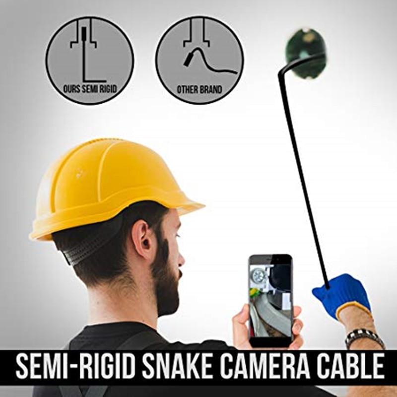 cheapest 8mm Lens Android Endoscope Camera 5M Semi Rigid Hard Cable Led Light Borescope Inspect Camera For PC Android Phone Endoscope