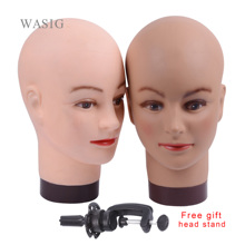 No Hair Bald Mannequin Head for Caps Wigs Lashes Jewelry Mask Massage for Sale Wig Stand