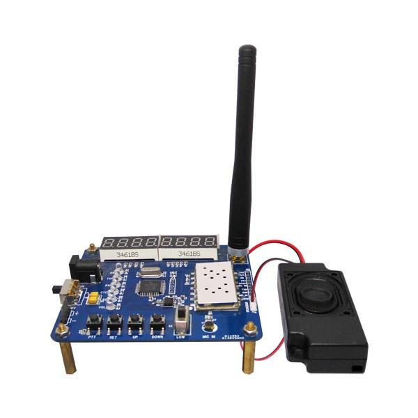 Intercom module demo board kit UHF VHF walkie talkie module SA818 speakers straight rod antennas