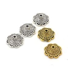 10pcs/lot Gold Silver Color Flower Shaped Loose Spacer Bead Caps For Jewelry Making Diy Finding Accessories Wholesale Supply new 50pcs lot gold silver color water drop shaped copper accessories connectors for diy handmade jewelry earring making findings