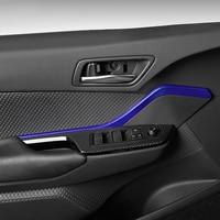 Blue ABS Interior Accessories Car Door Decorative Trim 2pcs Fit for Toyota C HR CHR 2016 2017 2018 2019