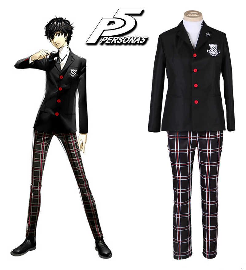 Игра Persona 5 герой Akira Kurusu школьная форма мужские костюмы Хэллоуин вечерние Костюмы