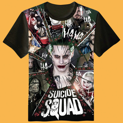 Modal t shirt!Suicide Squad Harley Quinn 3D Printed Cosplay t-shirt Summer top tshirt in stock free shipping