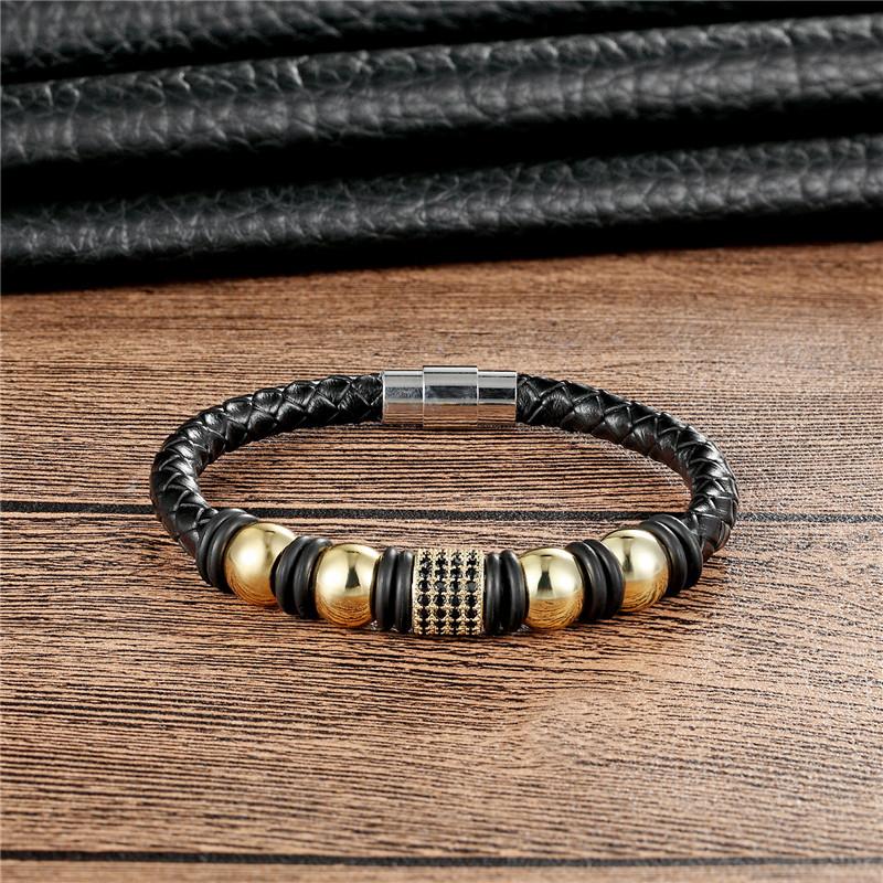 Новый бренд janeyacy модный кожаный браслет ручной работы мужской