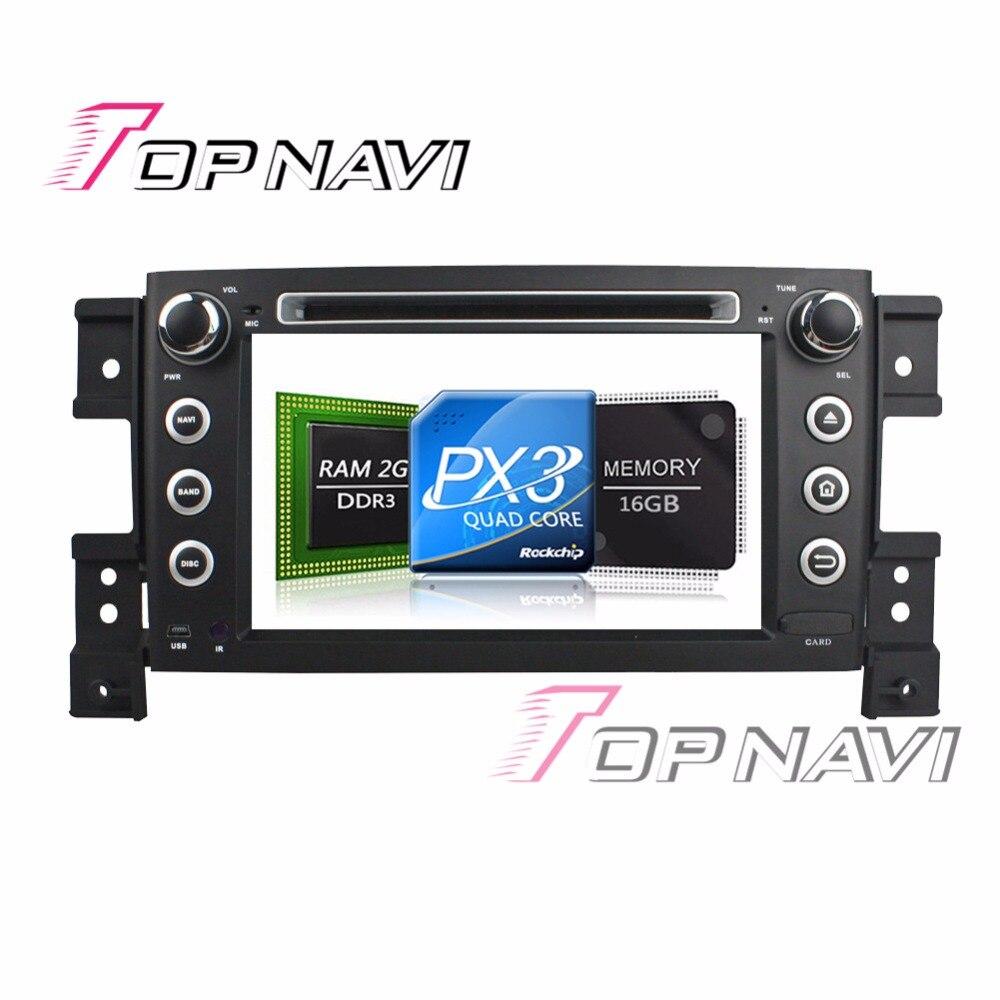 TOPNAVI 7 Android 7.1 Auto GPS Multimedia Players for Suzuki Vitara 2005-2011 Vehicle Audio Video Media Bluetooth Navigation