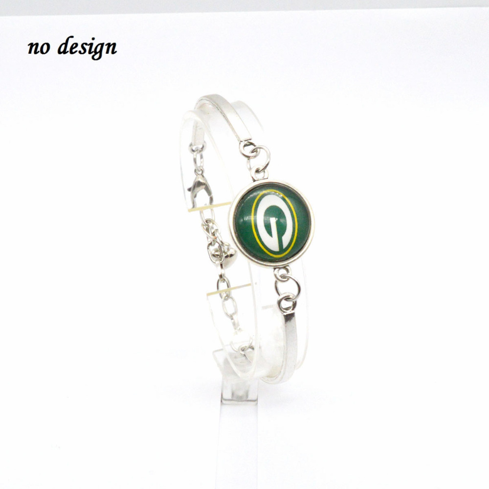 2018 Fashion Football Bracelet Green Bay Packers Team Charm Bracelets Bangles Femme Men Jewelry Whole Spt004 In From