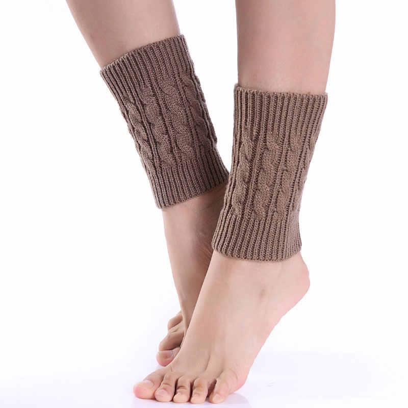 1pair Sexy Women Ladies Leg Warmers Autumn Winter Warm Foot Boots Socks Hemp Flowers Knit Toppers Boot Short Sock Cuffs  TH36