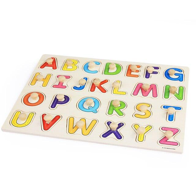 아기 장난감 몬테소리 나무 퍼즐/손 잡아 보드 세트 교육 나무 장난감 만화 차량/해양 동물 퍼즐 어린이 선물