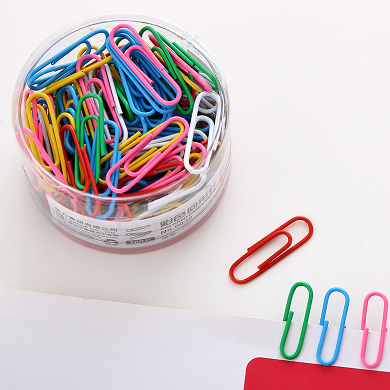 Free Shipping (160pcs/set) 29mm multicolour paper clip needle office clip novelty metal clip office suplies stationery