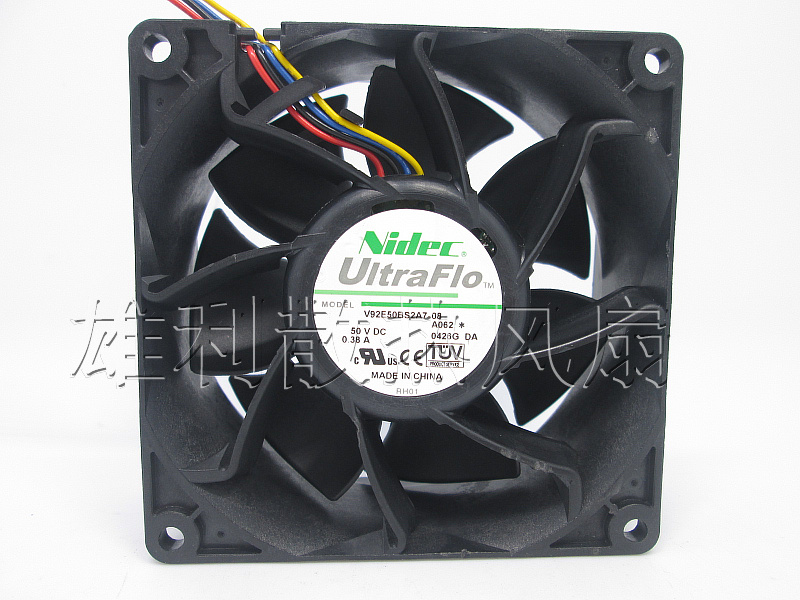 Free delivery. Original V92E50BS2A7 08 50V 0.38A 9CM 9038 4-wire cooling fan