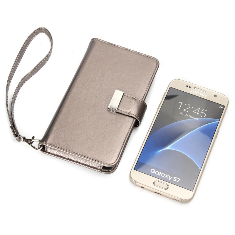 "Fashion Magnetic Girl Women Bag Leather Case For Samsung galaxy j3 j5 a3 2016 grand prime 5.1"" Wallet Design Card Slots Handbag"