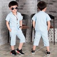 Kids Formal Wedding Clothes Suit Baby Boy Blazer Set Boys Tuxedo Suits Jacket Pants Children Clothing