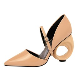 Shoes 2019 New Women High Heel Shoes Vintage Thick Heel Pointed Toe Pumps Comfortable Mid Heel 5cm Shoes Woman 3